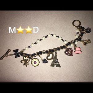 Betsey Johnson Charm bracelet.